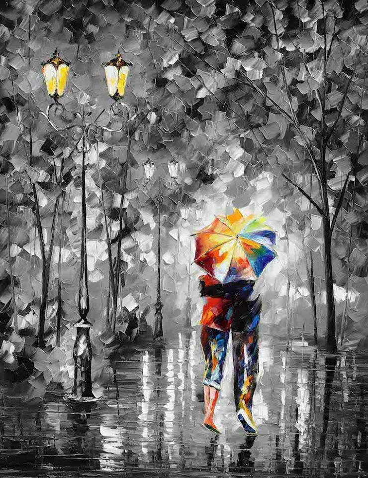 Leonid Afremov: Under one umbrella