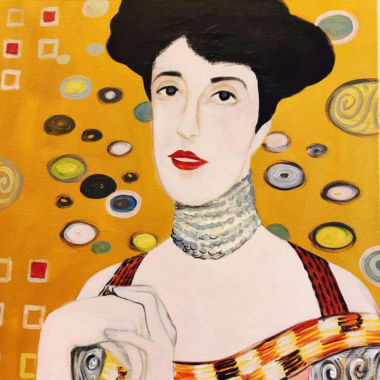 Gustav Klimt: The portrait of Adele-Bloch Bauer