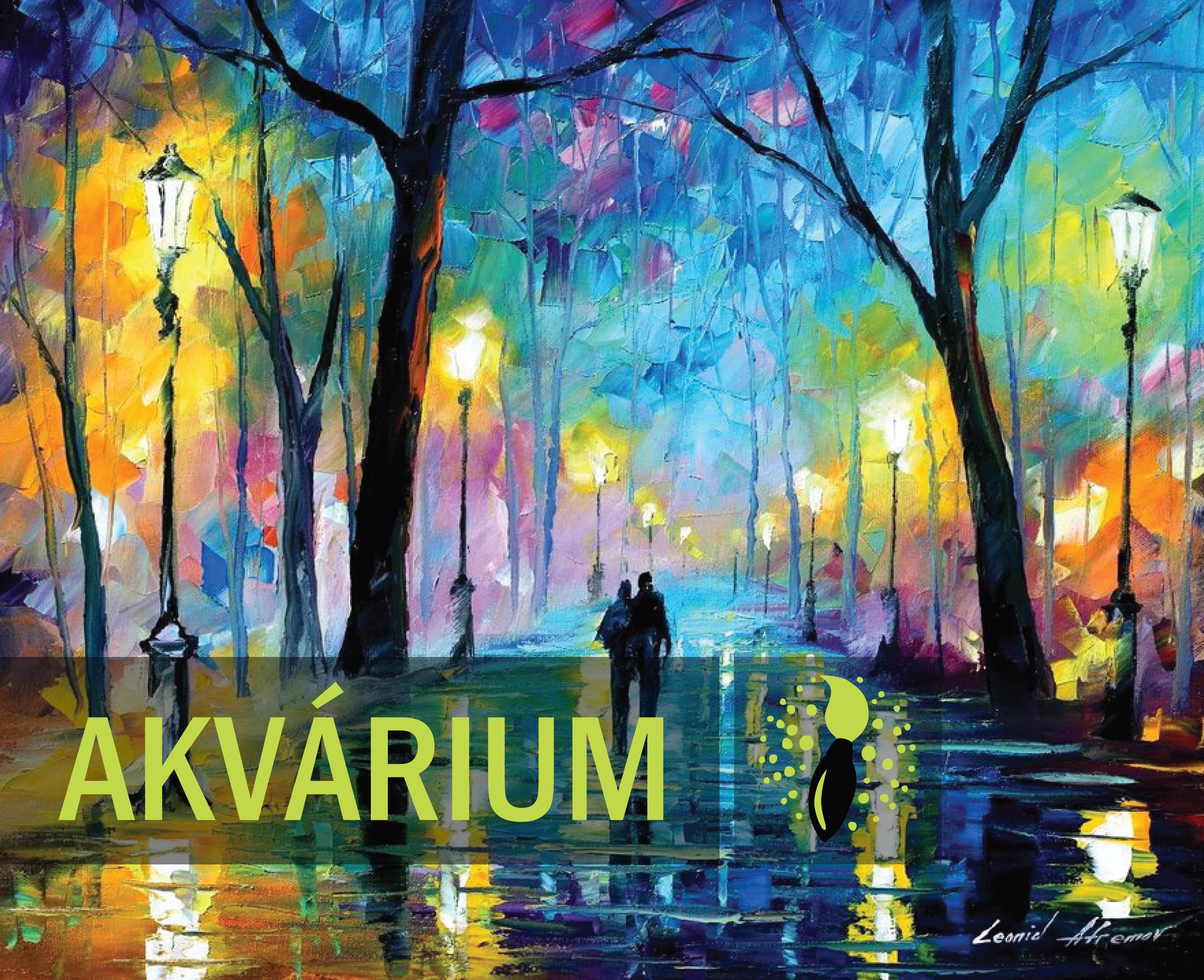 Leonid Afremov: Esti fények a parkban - AKVÁRIUM