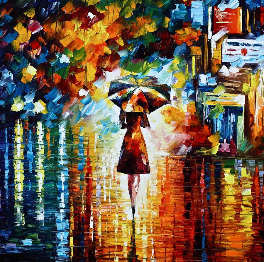 Leonid Afremov: Ének az esőben