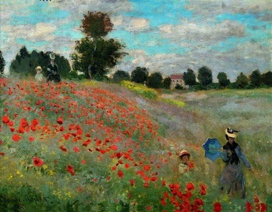 Claude Monet: Poppy field