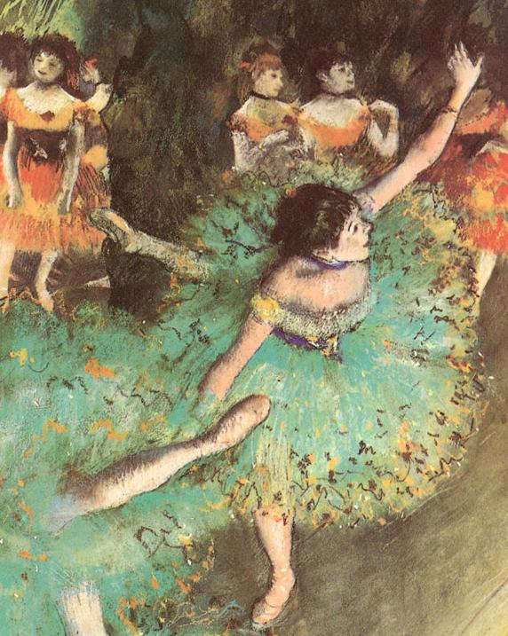 Edgar Degas: Green dancer