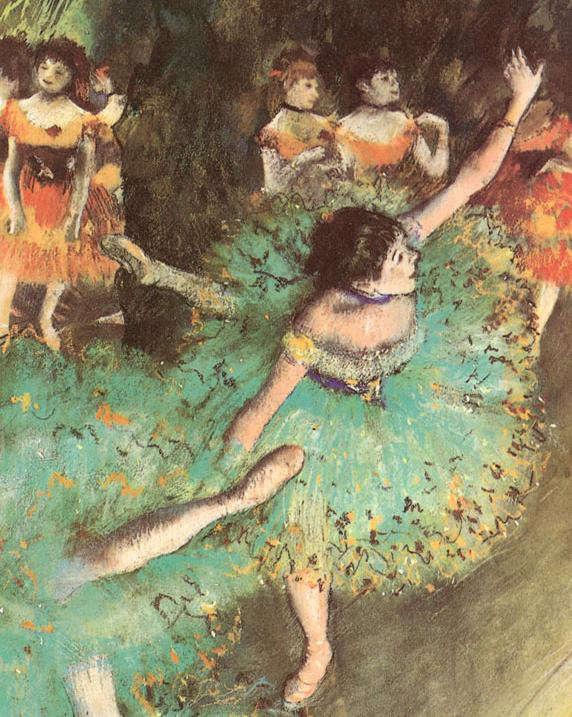 Edgar Degas: Balerina zöldben