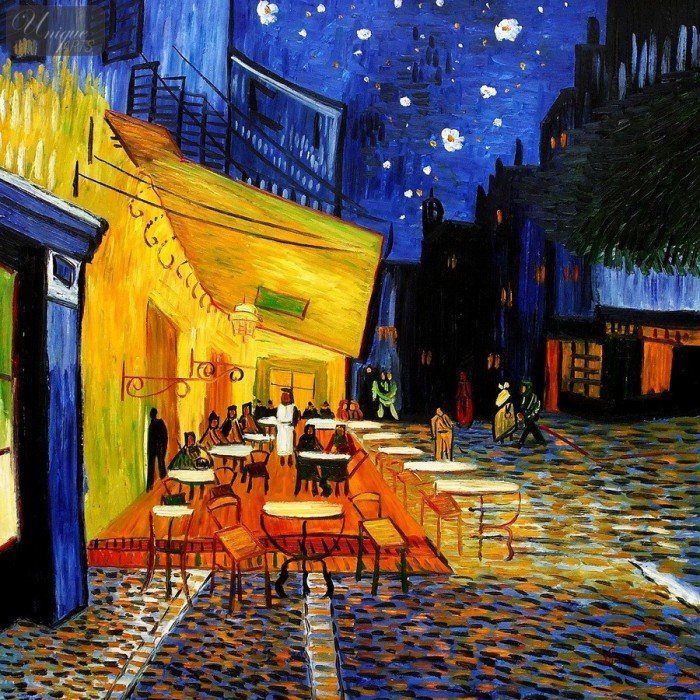 Vincent van Gogh: Café terrace at night