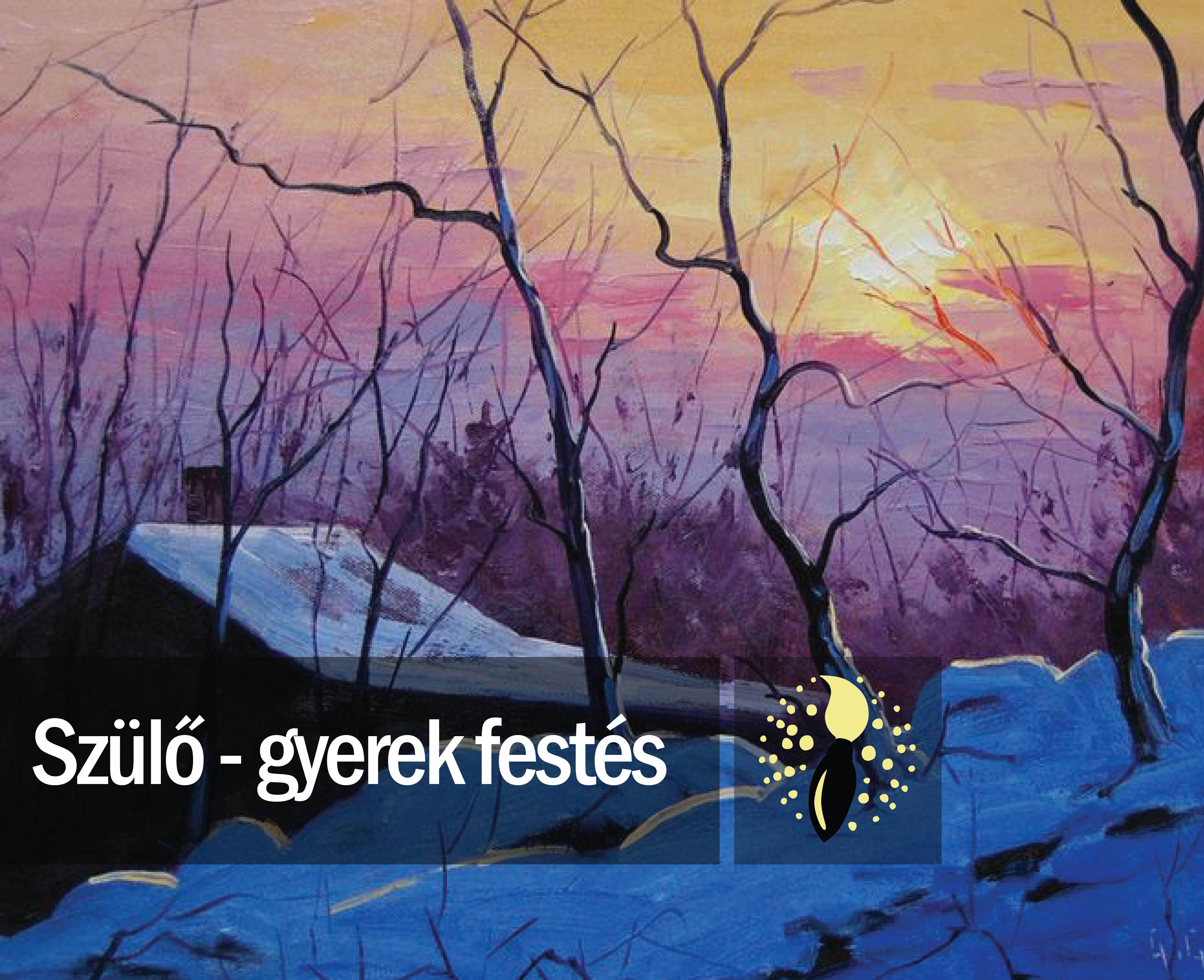 Graham Gercken: Téli hajnal (szülő-gyerek festés)