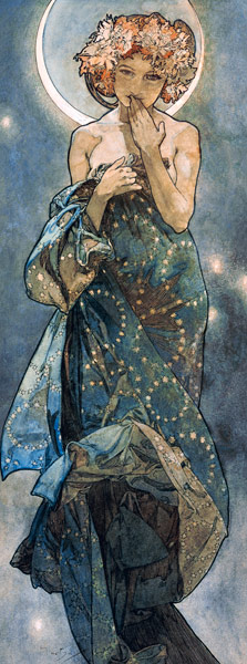 Alphonse Mucha: The moon and the stars