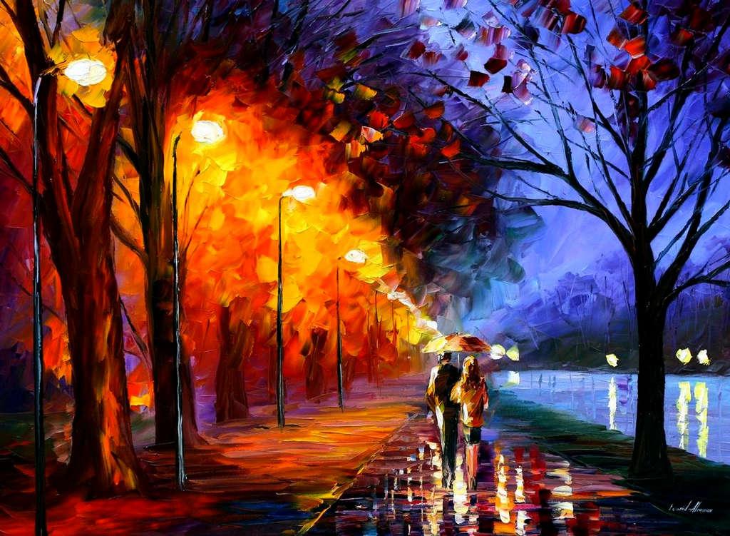 Leonid Afremov: Romantic stroll