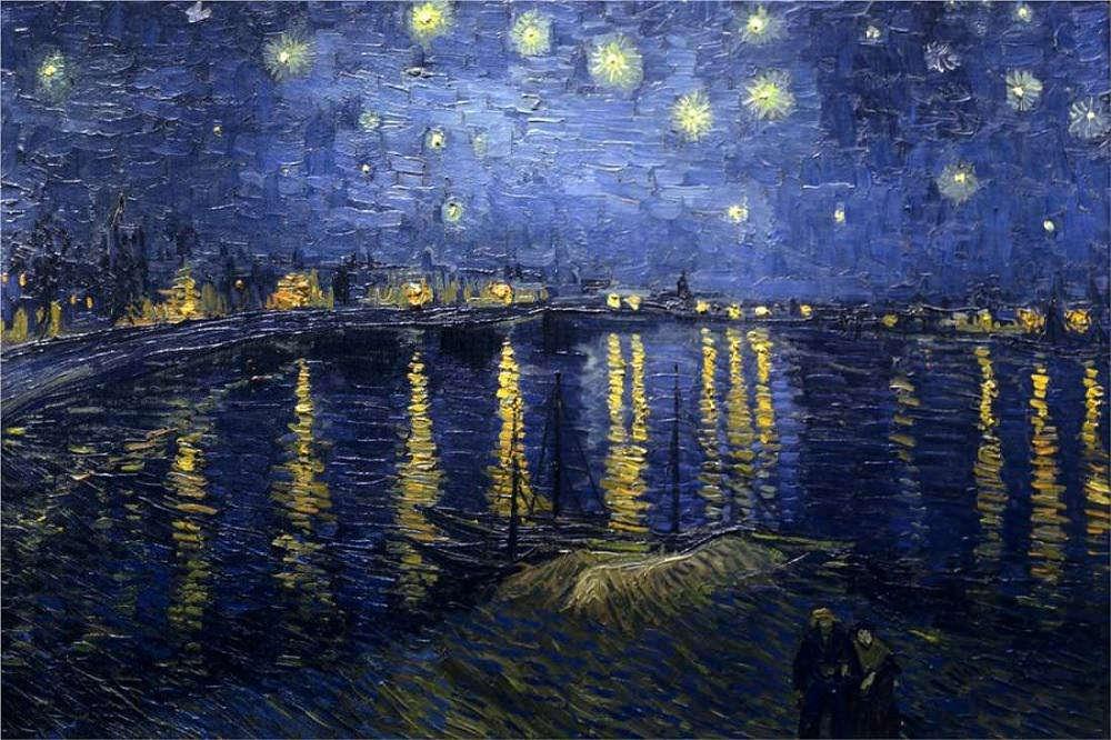 Vincent van Gogh: Csillagos éj a Rhone folyó fölött