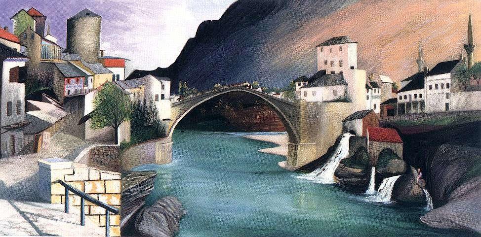 Csontváry Kosztka Tivadar: Római híd Mosztárban