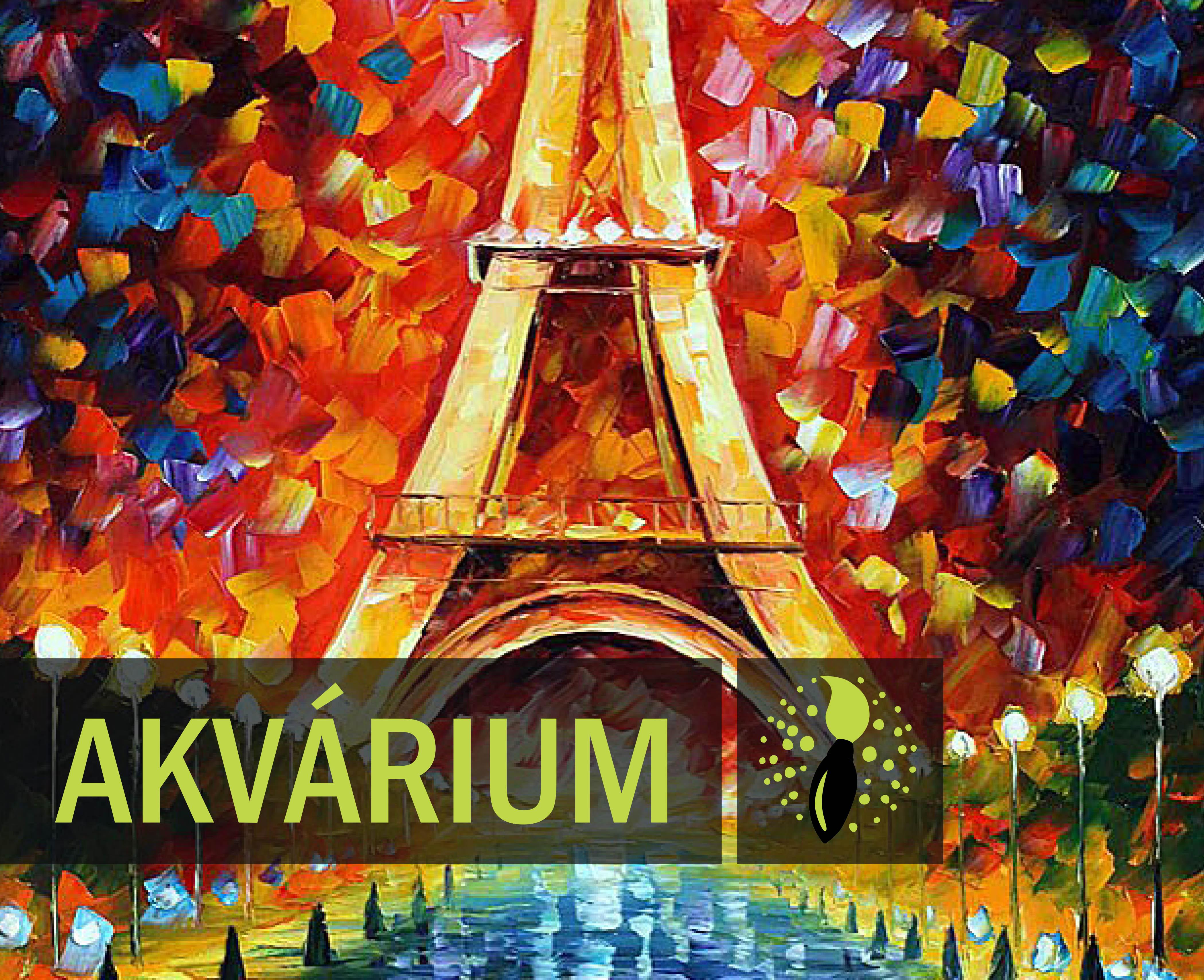 Leonid Afremov: Eiffel torony (AKVÁRIUM)