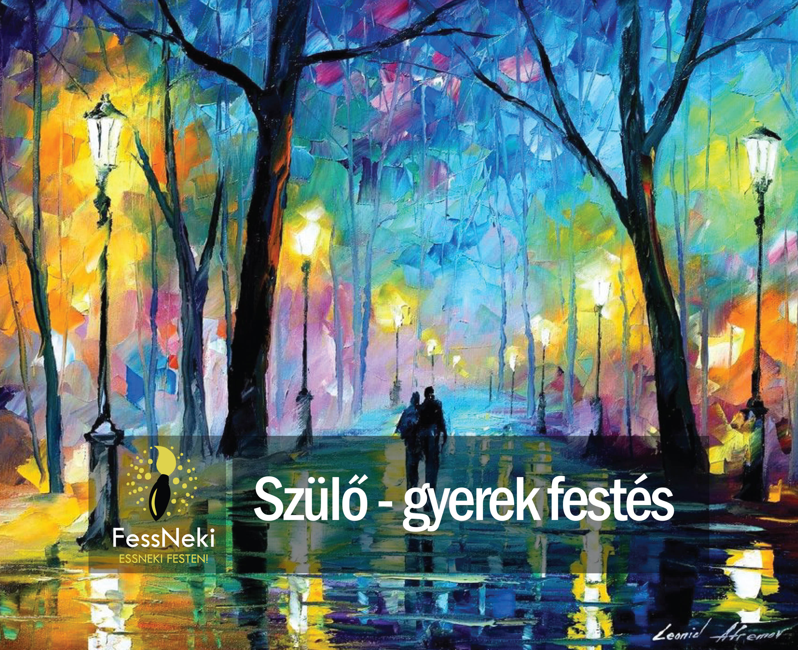Leonid Afremov: Fog in the park (parent kid event)