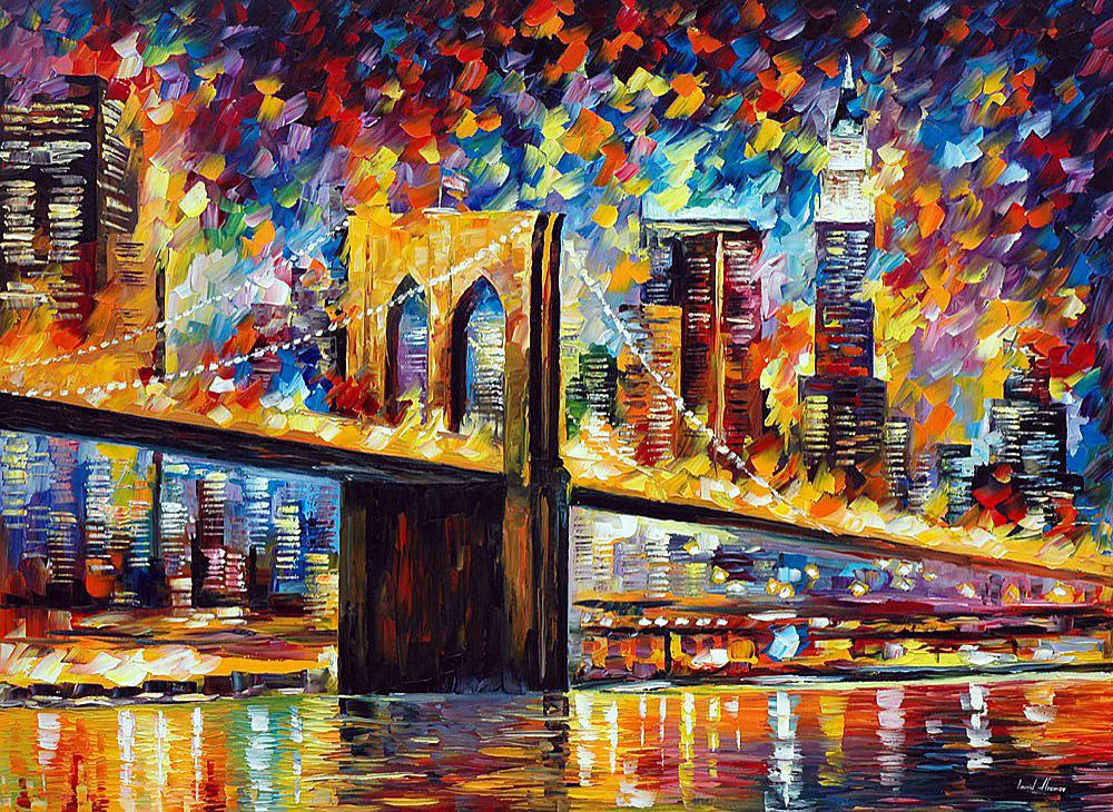 Leonid Afremov: Brooklyn Bridge