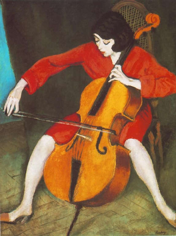 Róbert Berény: Woman playing the cello