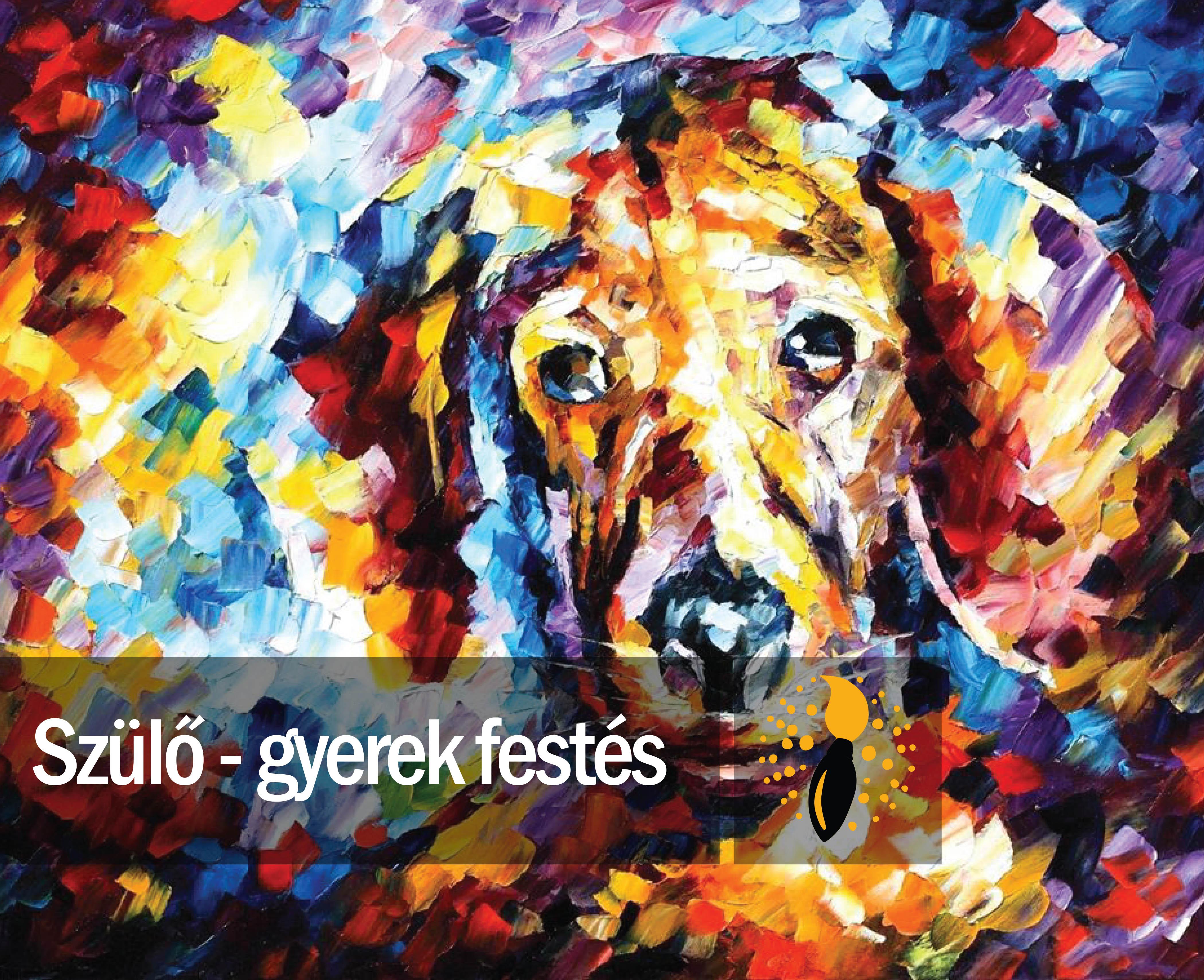 Leonid Afremov: Az én kutyám (szülő-gyerek festés)