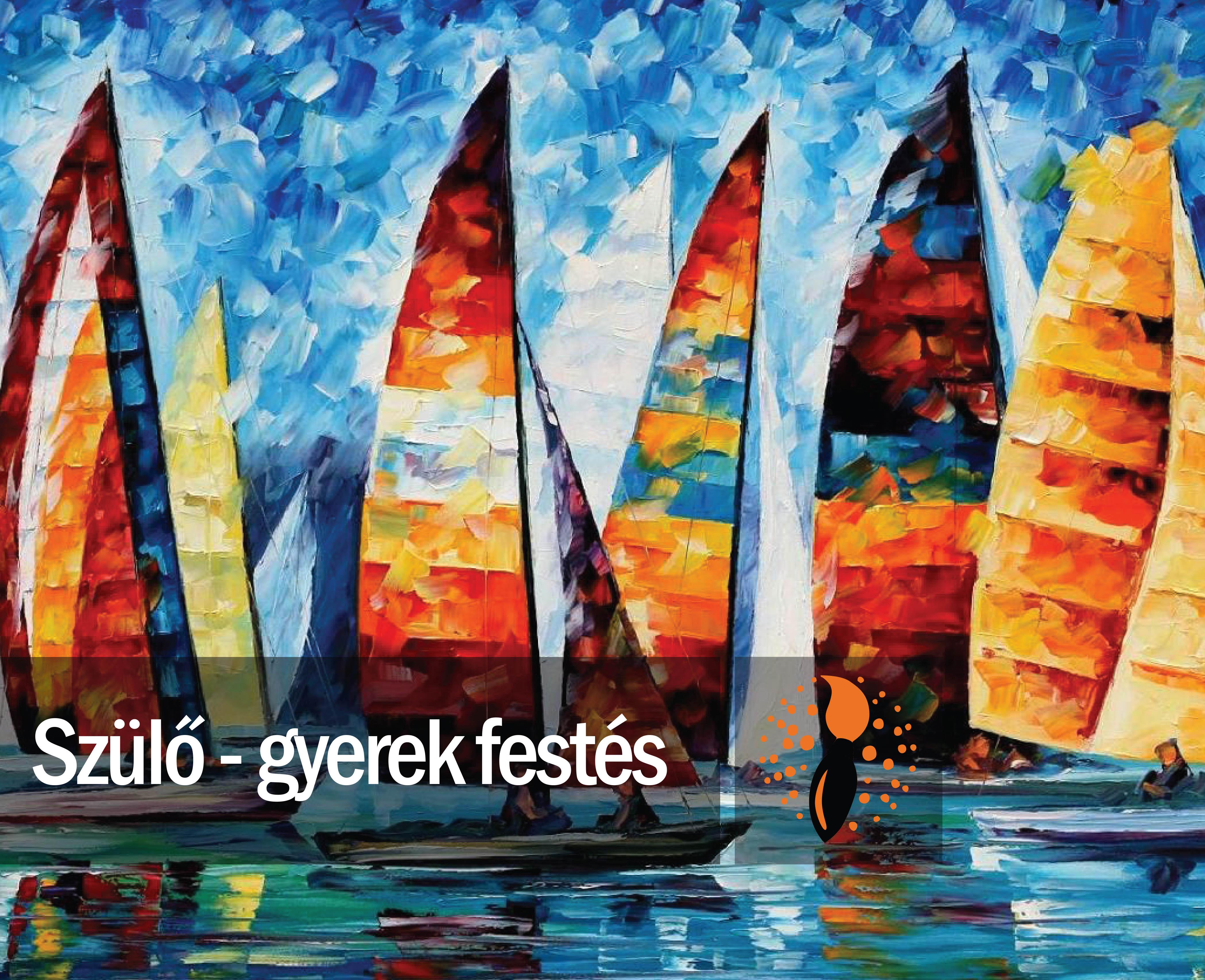 Leonid Afremov: Vitorlák (szülő-gyerek páros festés)