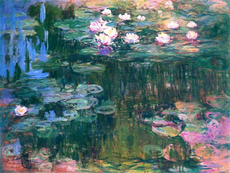 Claude Monet: Waterlillies at dawn