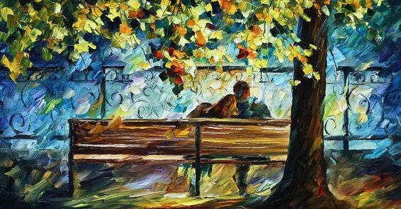 Leonid Afremov: Date on the bench