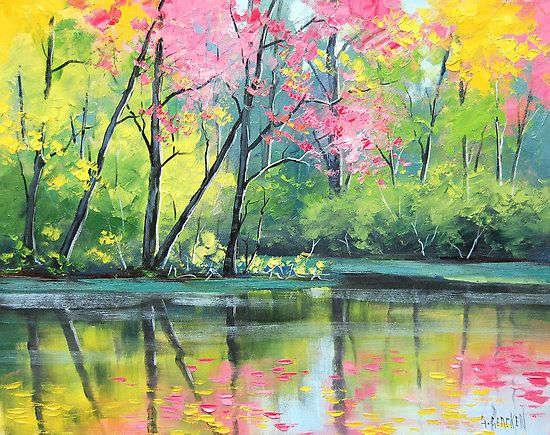Graham Gercken: Tavaszi tópart