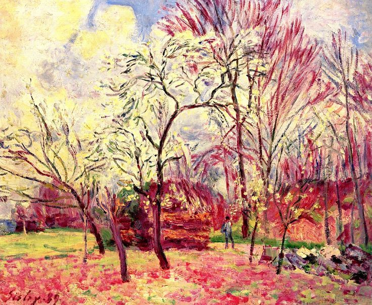 Alfred Sisley: First day of spring