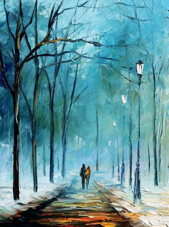 Leonid Afremov: Winter landscape