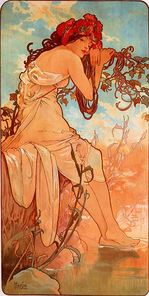 Alphonse Mucha: Nyár
