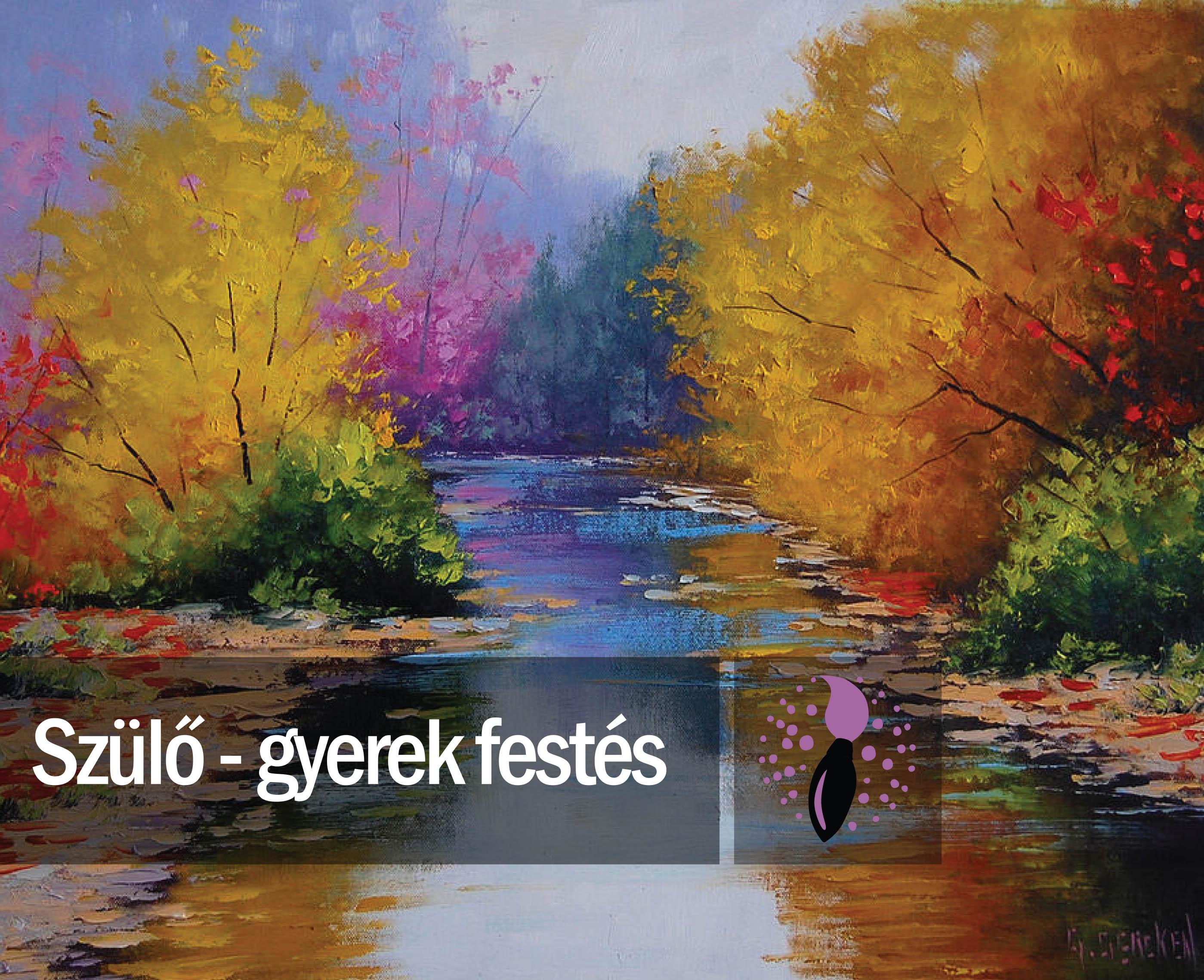 Graham Gercken: Az ősz színei (szülő-gyerek festés)