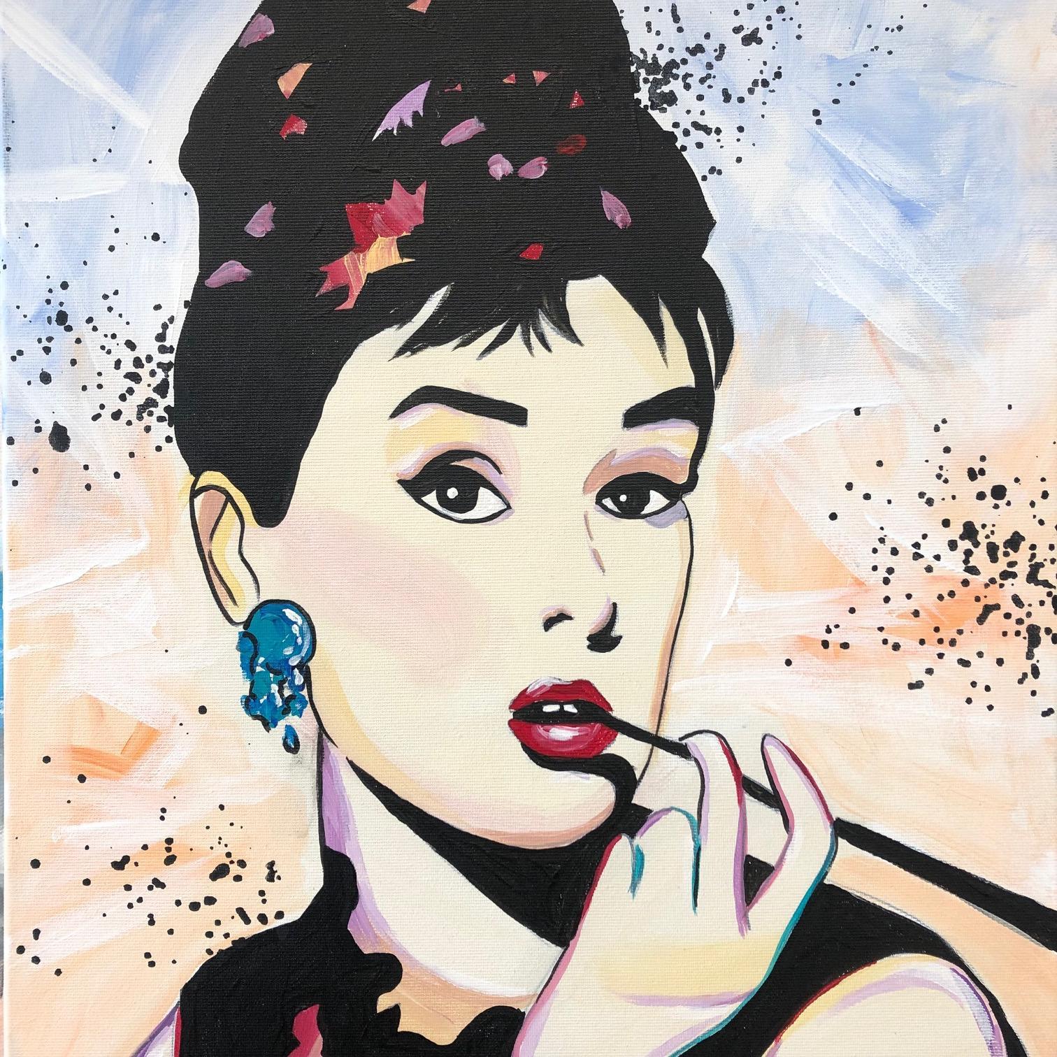 FessNeki: Audrey Hepburn pop art