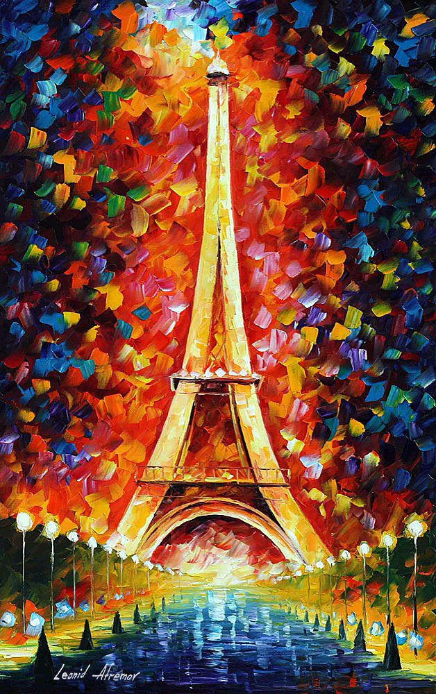 Leonid Afremov: Eiffel tower