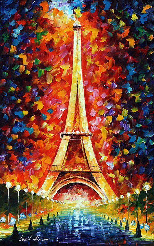 Leonid Afremov: Eiffel torony