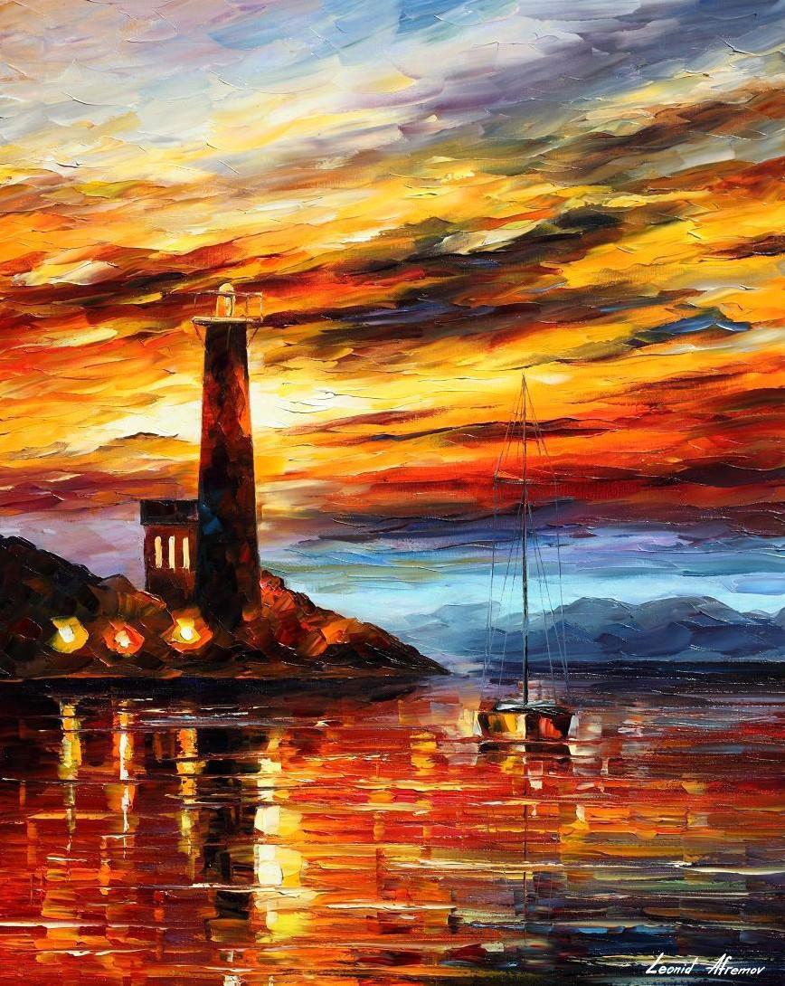 Leonid Afremov: Lighthouse