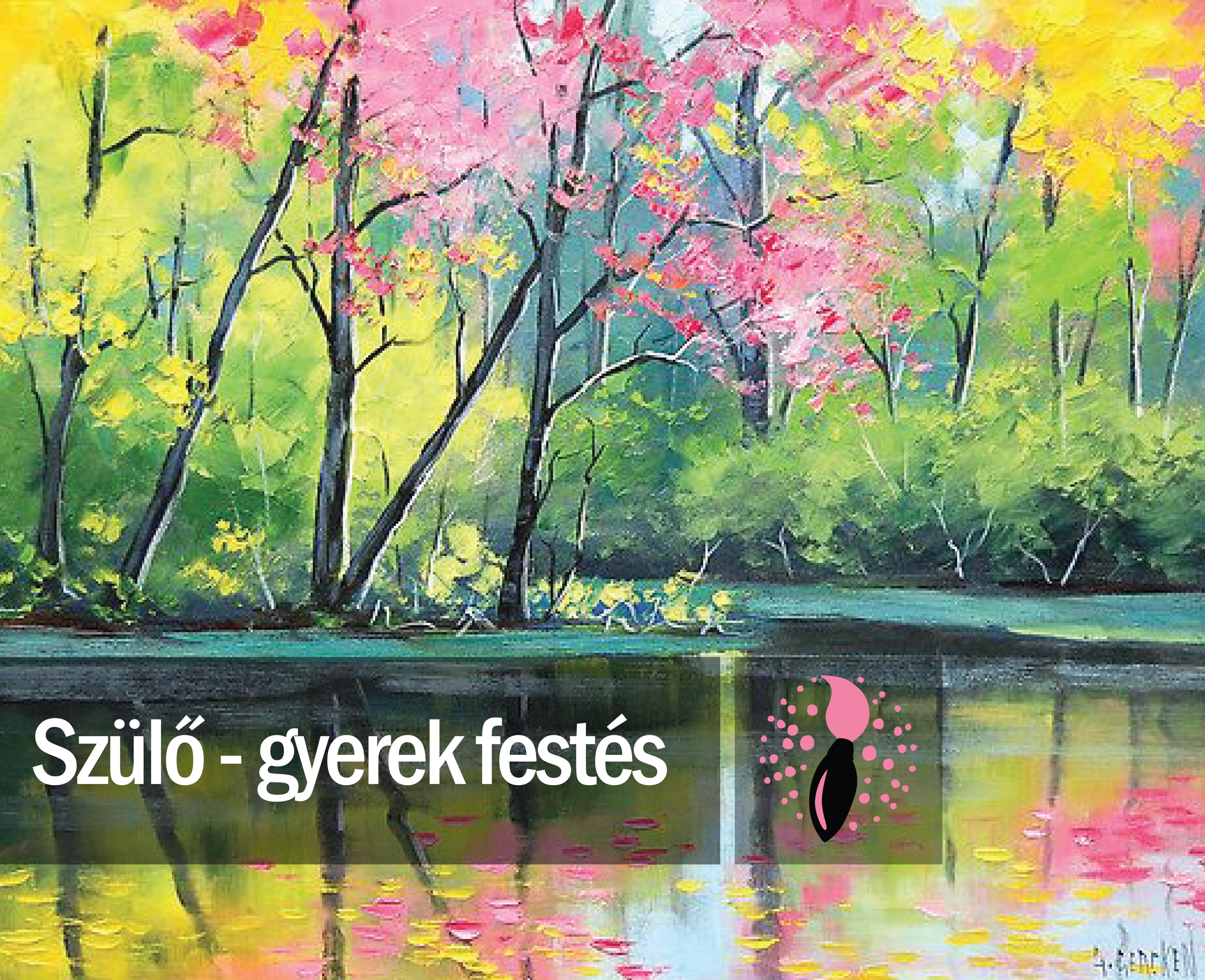 Graham Gercken: Tavaszi tópart (szülő-gyerek festés)