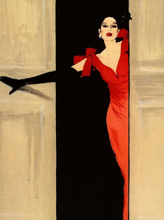 Rene Gruau: Audrey Hepburn
